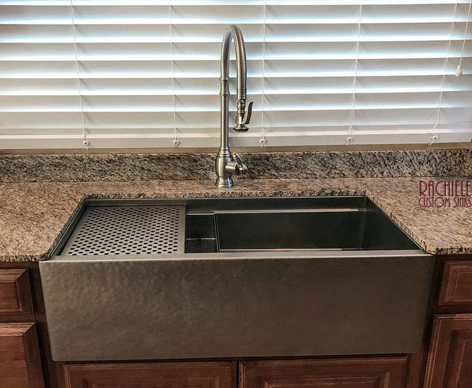 Stainless Farmhouse Sink Hand Hammered Custom Sinks By Rachiele
