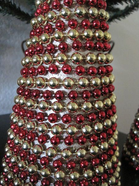 beaded christmas garland cone christmas trees - Beaded Christmas Garland
