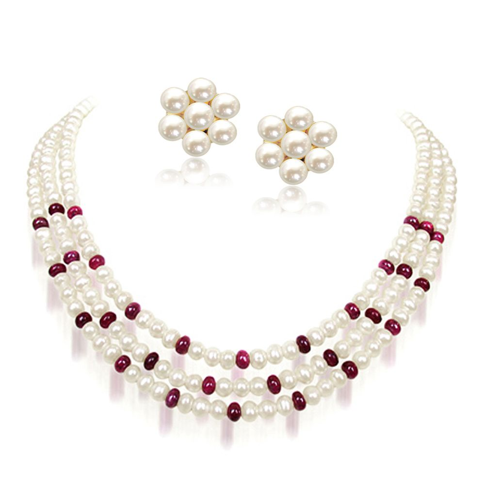 Ruby beads jewellery designs in Pakistan | Free Hairstyles ...