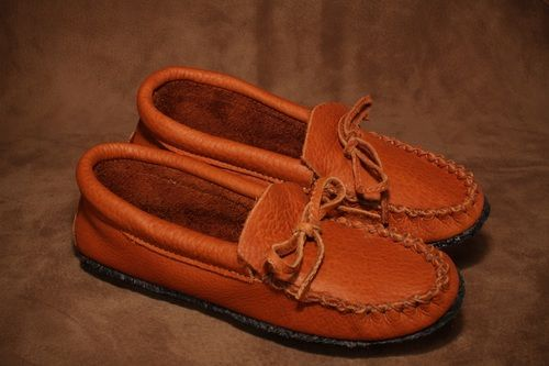 f91fe364d580c Buffalo moccasin with a crepe sole. #leather #Canada #handmade ...