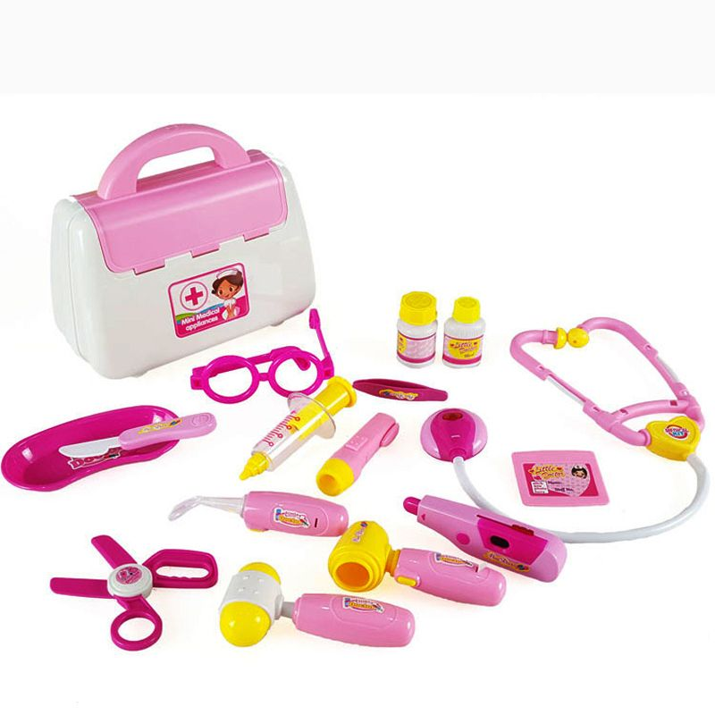 cf8df2dcd 15 PCS New Simulation Doctor Toys Classic toys Simulated Nurse Medical  Doctor Tool Box Baby kids