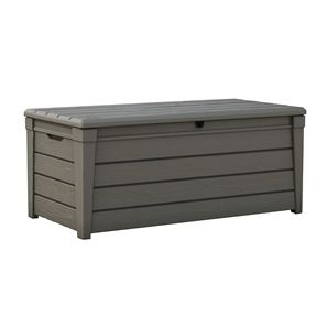 Keter Brightwood Outdoor Storage Box Bunnings Warehouse Outdoor Storage Bench Patio Storage Outdoor Deck Storage Box