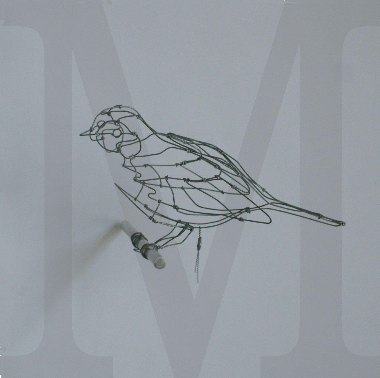 objets fils de fer | Birds | Art fil, Sculpture, Art