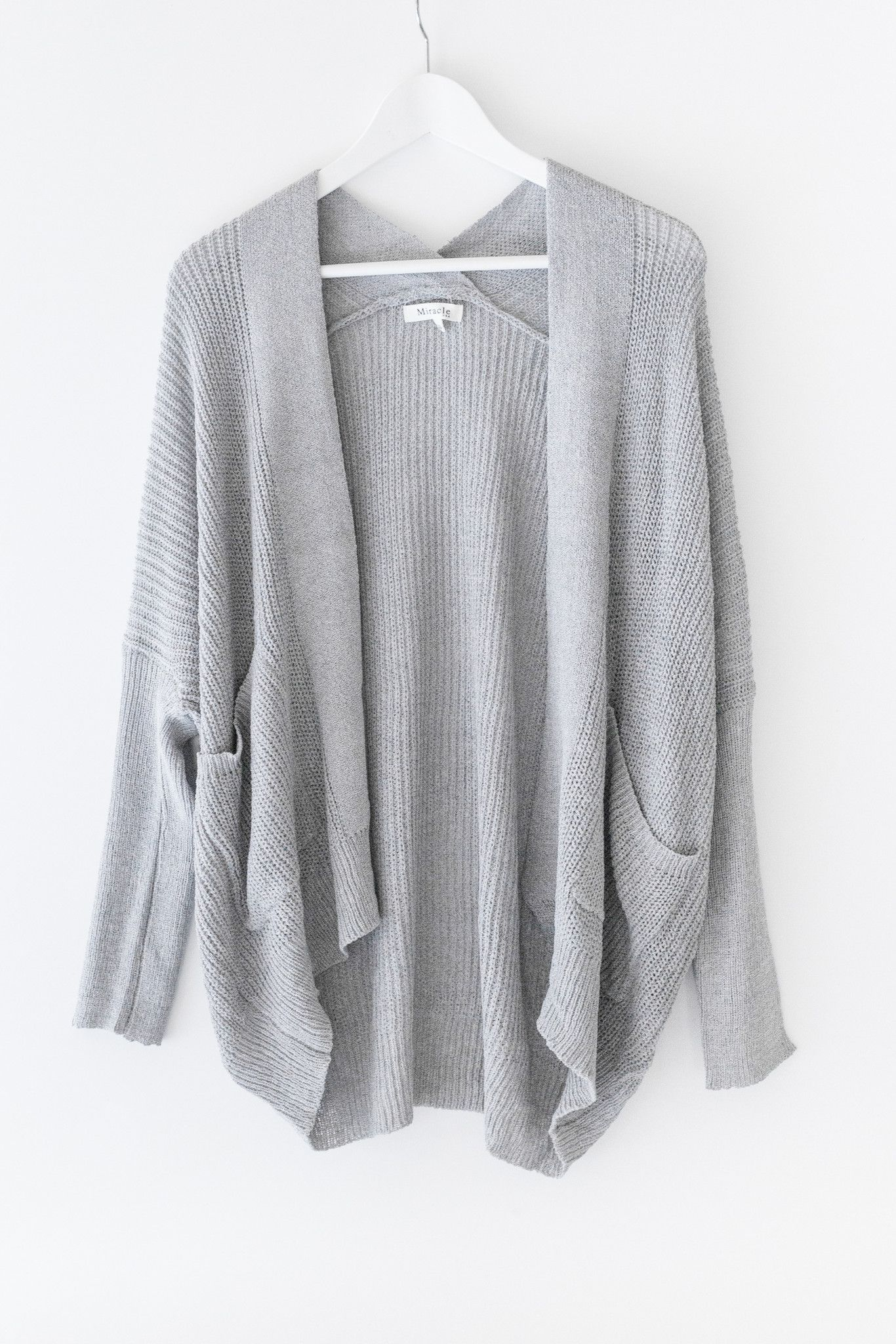 Lightweight slouchy knit cardigan - Fitted ribbed knit long ...