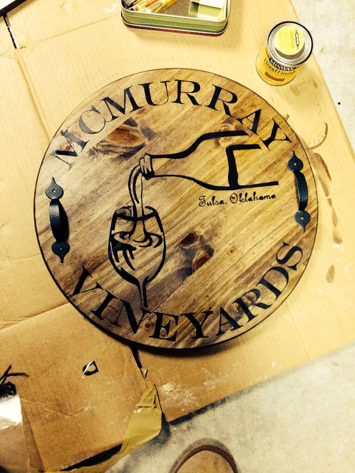 Diy Personalized Wine Barrel Lid Serving Tray Wall