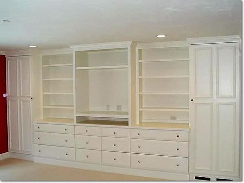 Find this Pin and more on Home ideas  bedroom storage units. Image of  Bedroom Wall Units with Drawers and TV   Wardrobe