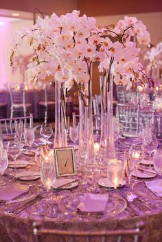 White And Pink Orchids Centerpieces Google Search