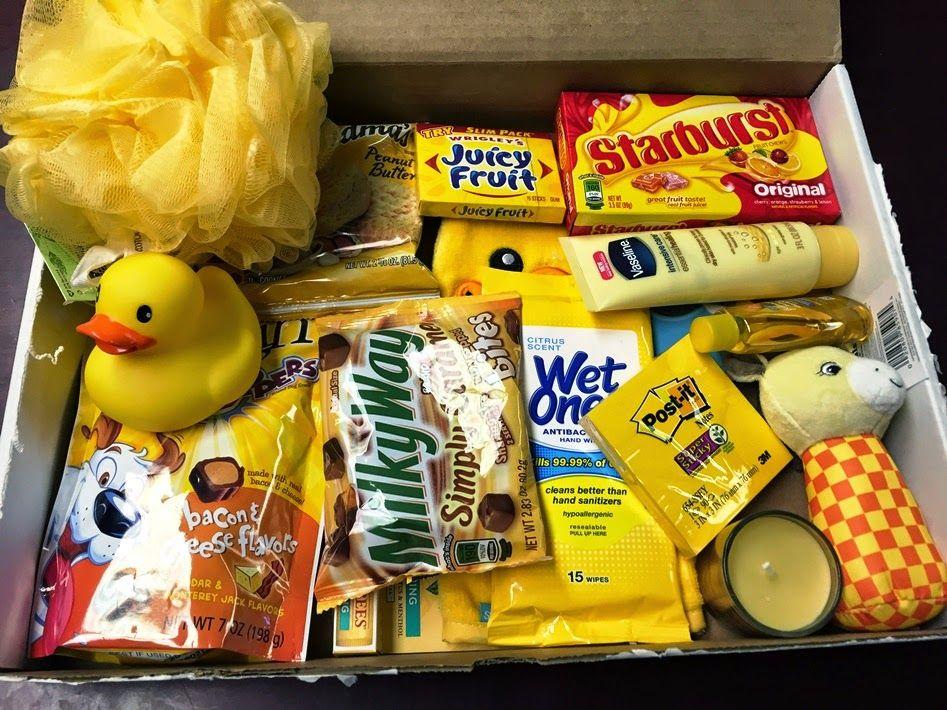 Box of sunshine sunshine gift yellow gifts basket box