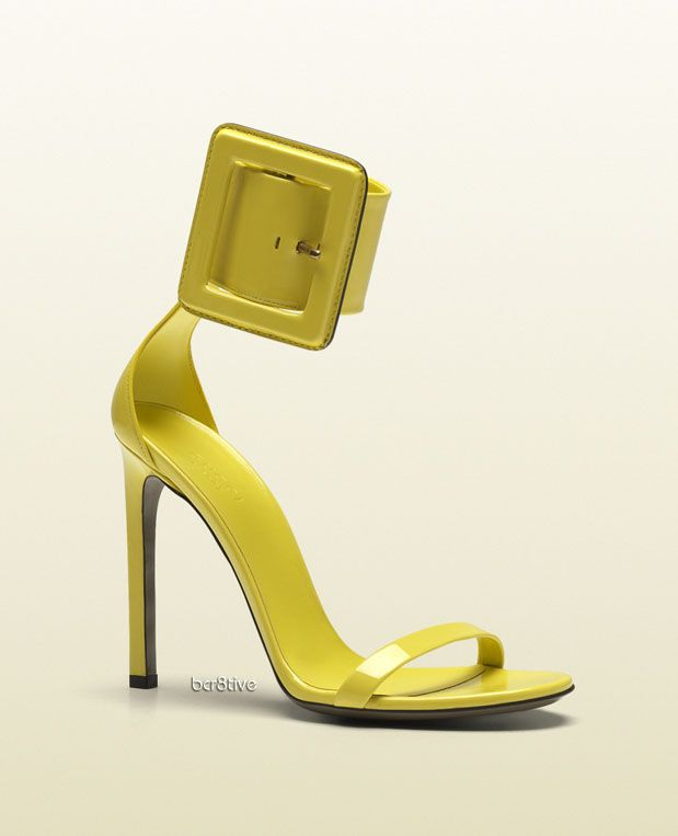 a6bf66e8b34 Gucci victoire ankle-strap sandal with squared buckle