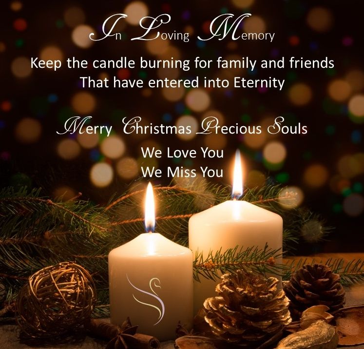 Christmas Candle Memorials Grief Loss Pillar Candles