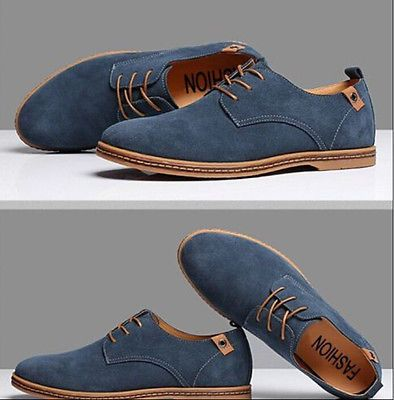 Dress Formal Oxfords Flats Shoes Genuine Suede Leather Lace Up    eBay is part of Mens casual dress - Upper Materials suede  Shoes Style Closed Toe, Laceup, Casual  Occasion Outdoor, Indoor, Practise, Honeymoon, Casual, Office & Career  Net weight about 700g