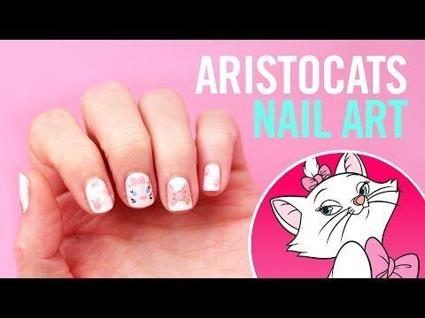 Disneys Aristocats Nail Art Tips By Disney Style Youtube