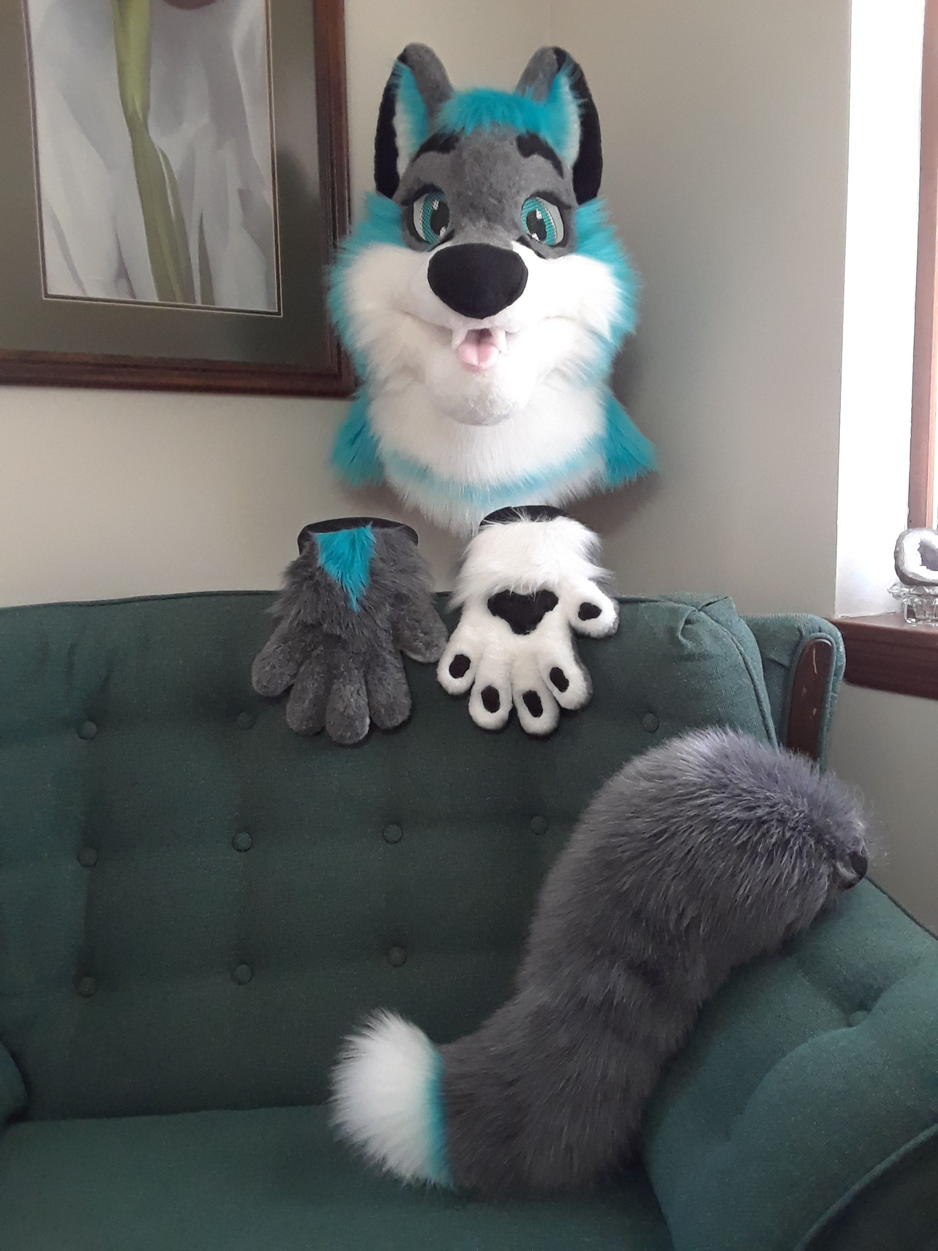 Partial Fursuit Now For Sale On Ebay Fursuit Head Fursuit Furry Suit