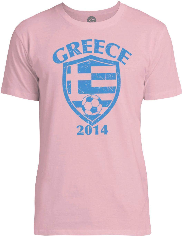 Greece 2014 (Blue) Mens Fine Jersey T-Shirt