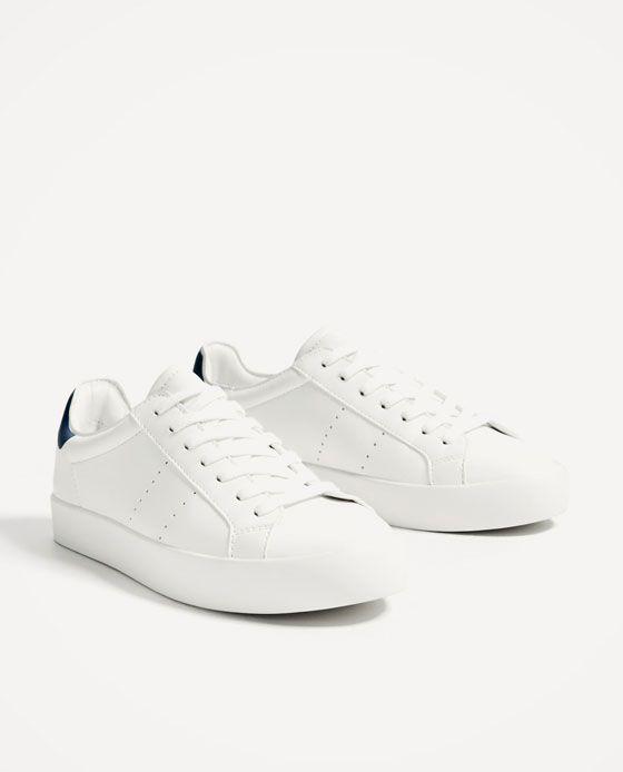 ZARA - SALE - BASIC WHITE SNEAKERS Zara Sneakers, White Sneakers, White  Shoes, a3ce890a977