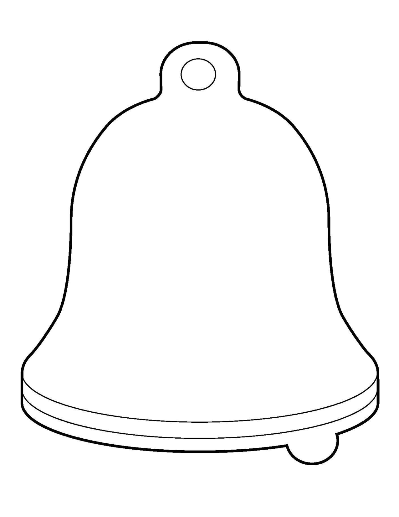 Christmas Bell Template Printable