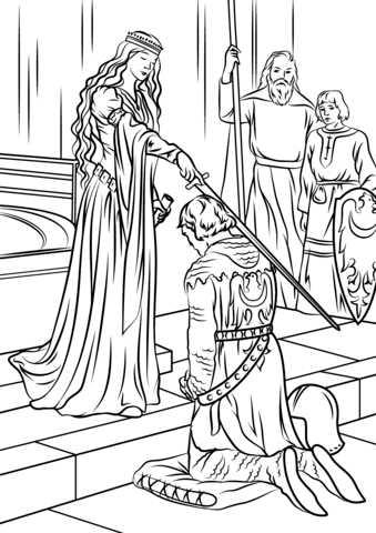 Medieval Princess Coloring Page Free Printable Coloring Pages Princess Coloring Pages Princess Coloring Cartoon Coloring Pages