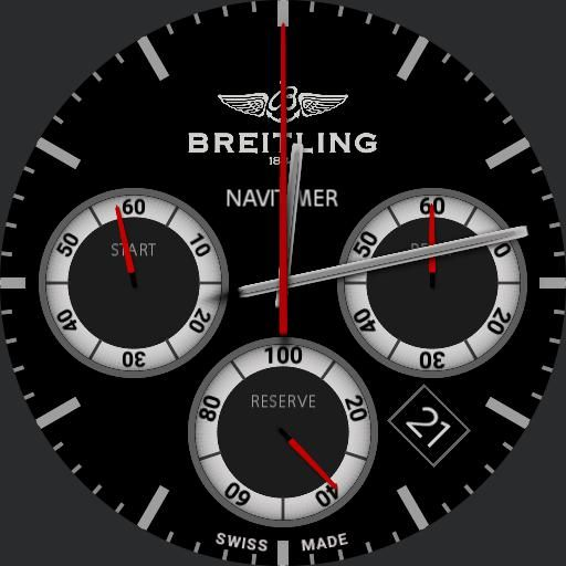 Fixed Gear Wallpaper Iphone Breit Stopwatch Navimeter Red Watch Face Preview Watch