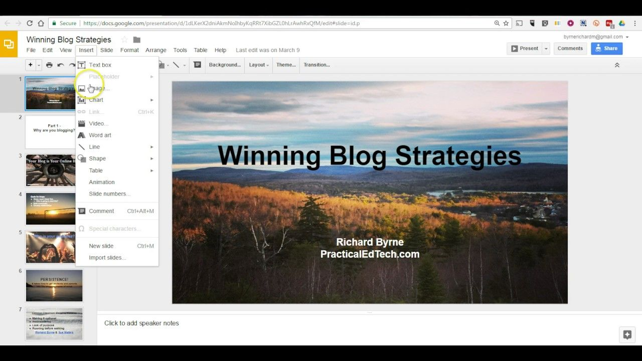 How To Add Sound To Google Slides Will Show You Step By Step Instructions To Add Narration Or M Google Education Google Classroom Elementary Teacher Technology