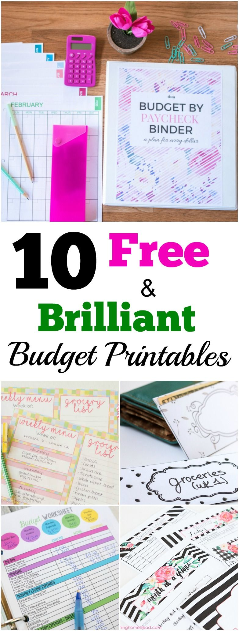 10 Free And Brilliant Budget Printables To Organize Your