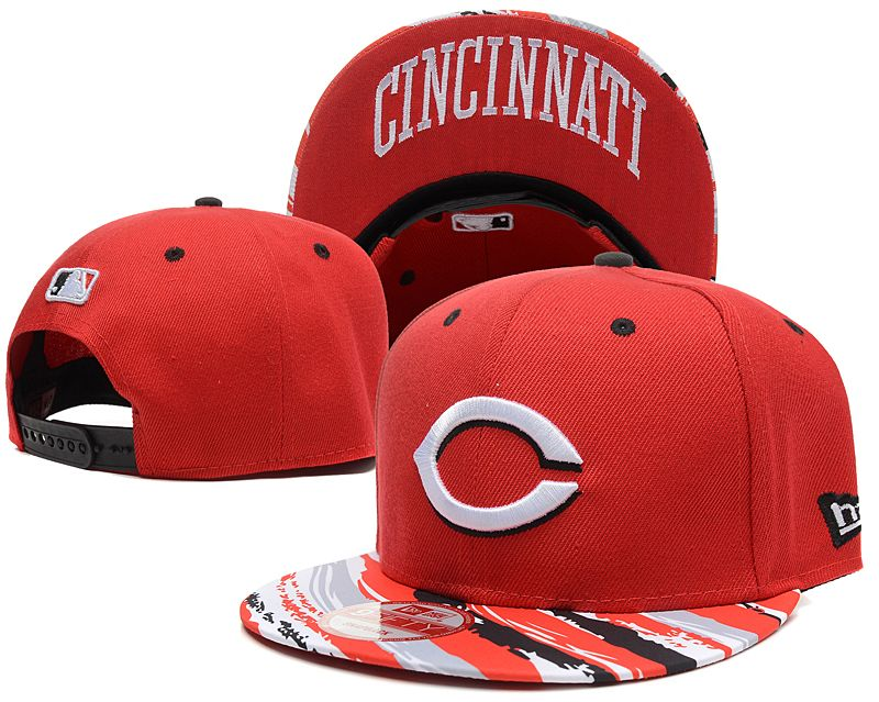 MLB Cincinnati Reds Red Snapback Hats--SD