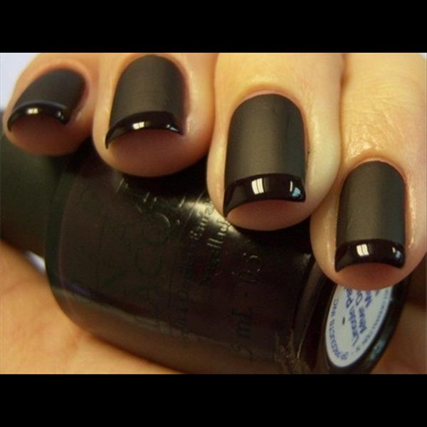 Matt black acrylic nails | Beauty | Pinterest | Black acrylic nails ...