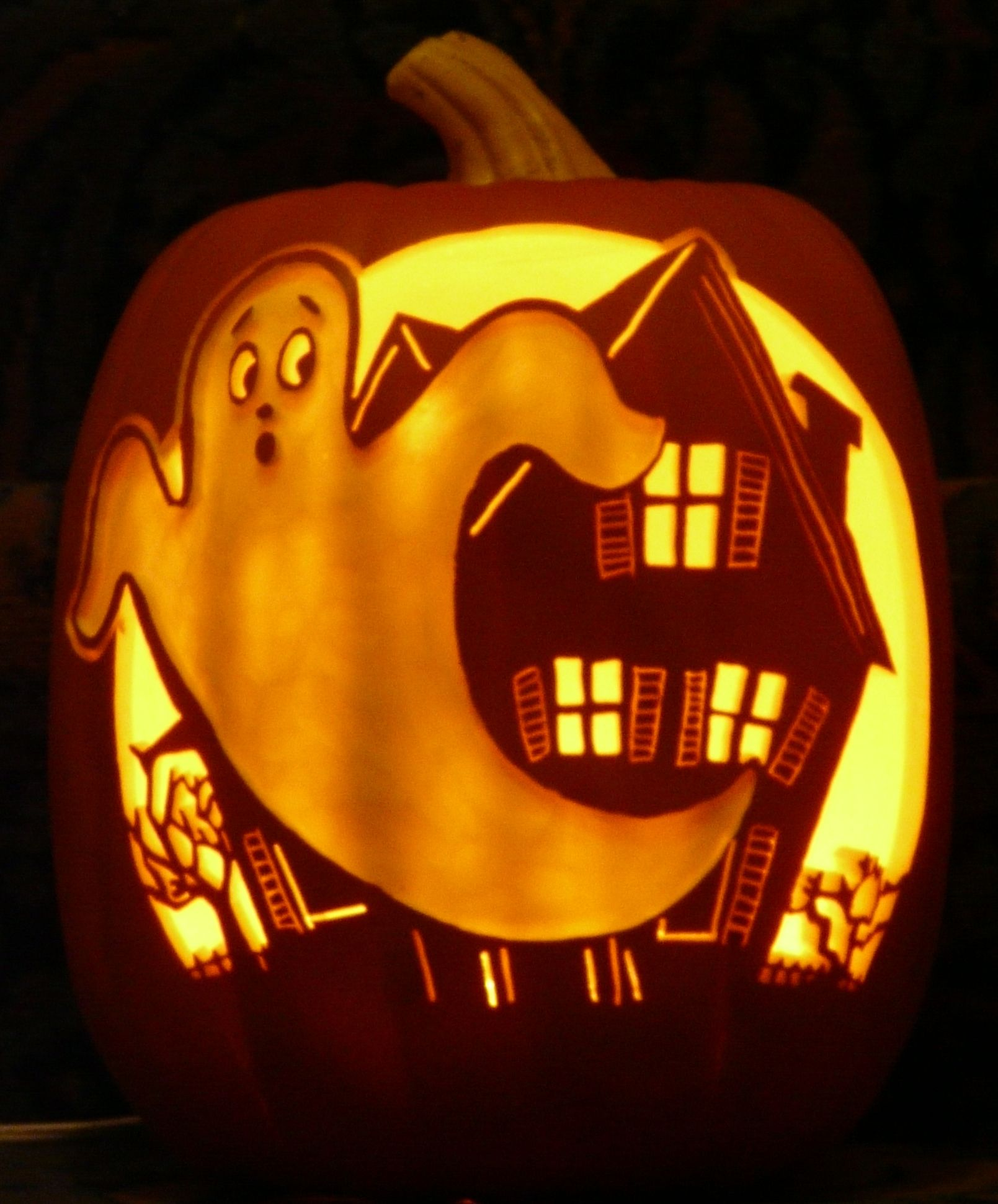 Vintage Ghost and Haunted House pattern by stoneykins.com I carved ...