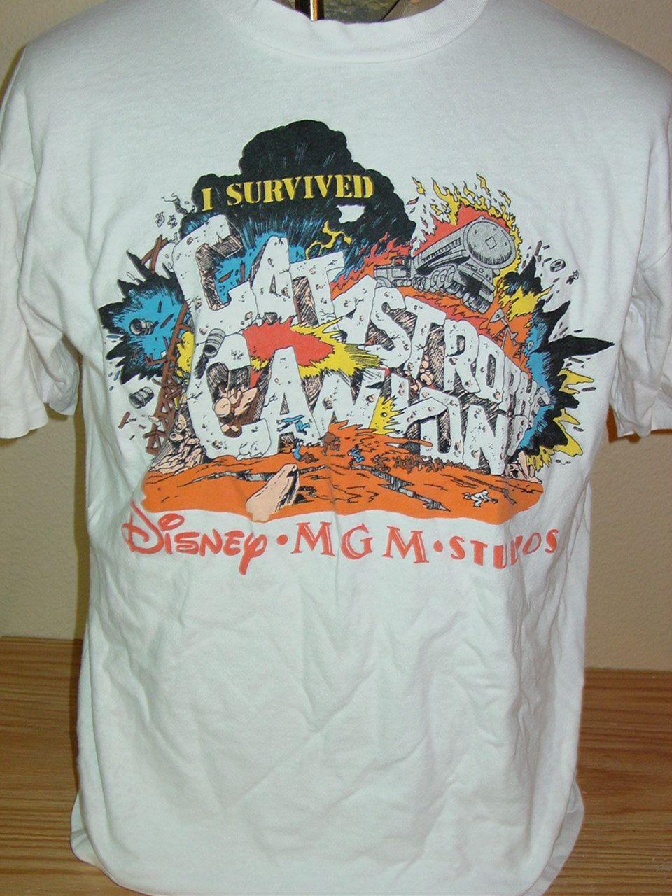 Vintage disney mgm studios extreme stunt show tshirt