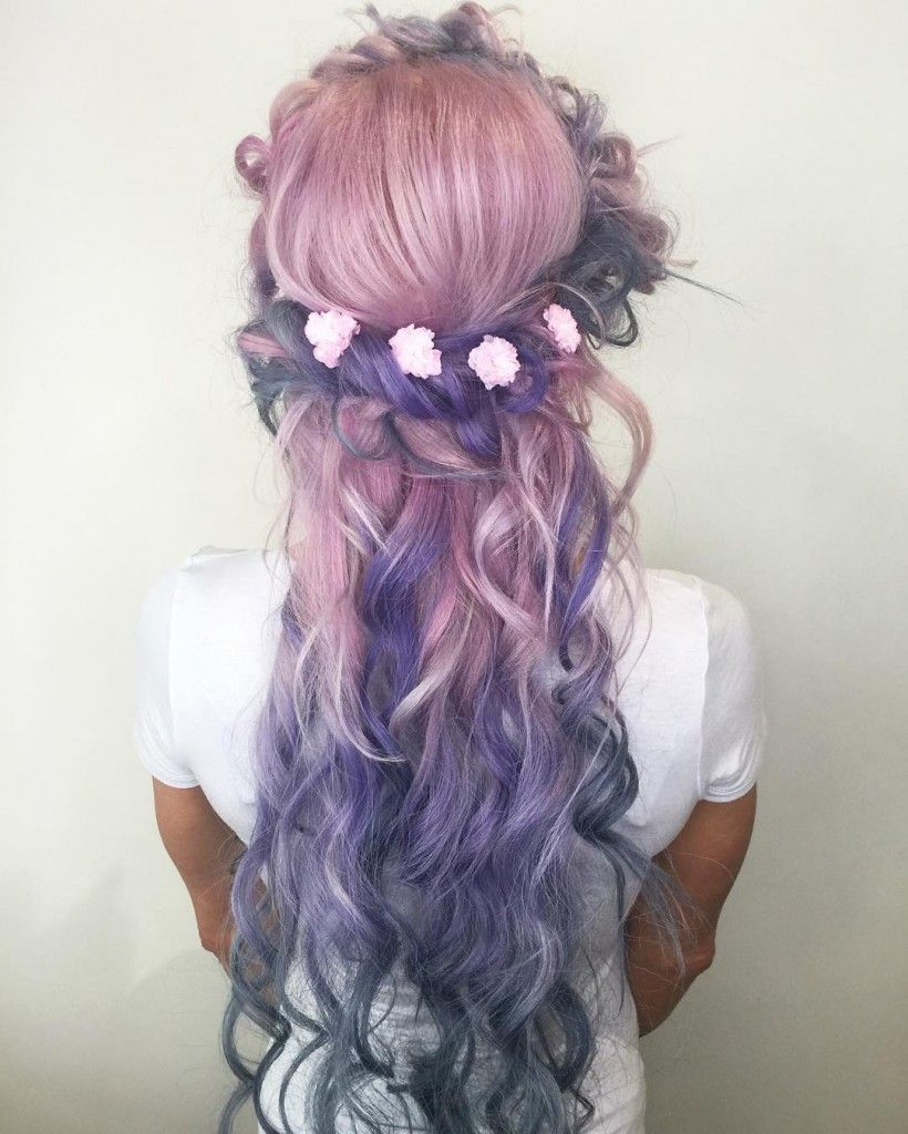 pastel pink gray and silver