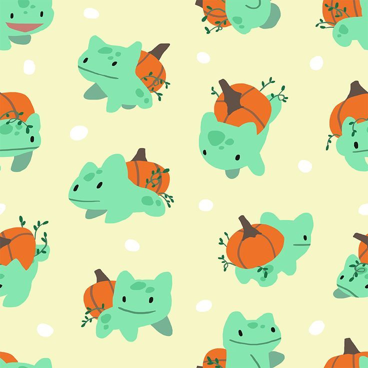 Pumpkin bulba pattern. Free to use! bulbasaur cute
