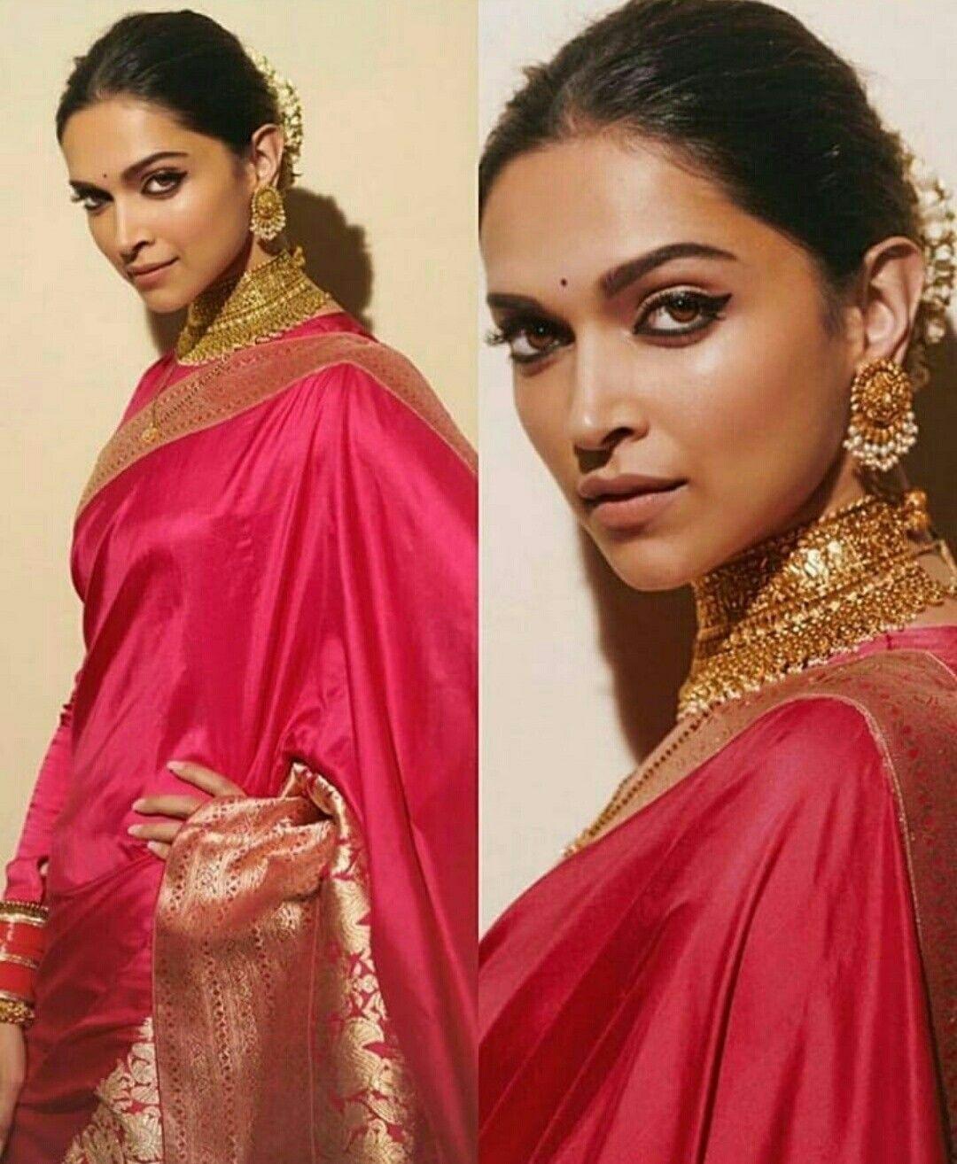 The stunning DEEPIKA PADUKONE. | Deepika padukone saree ...