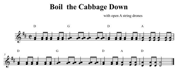 Boil Em Cabbage with Open A Drone | sheet music