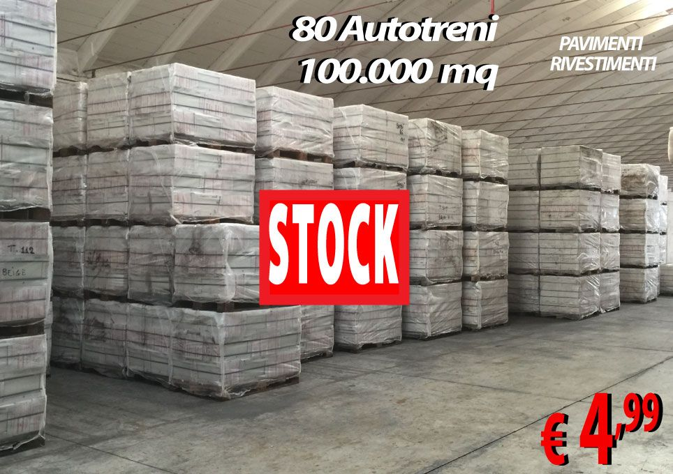 STOCK DI 100.000 MQ DI GRES PORCELLANATO.DI OGNI GENERE ...