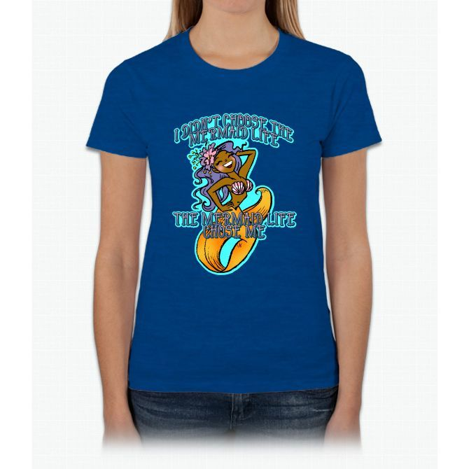 Mermaid Life Unicorn Womens T-Shirt