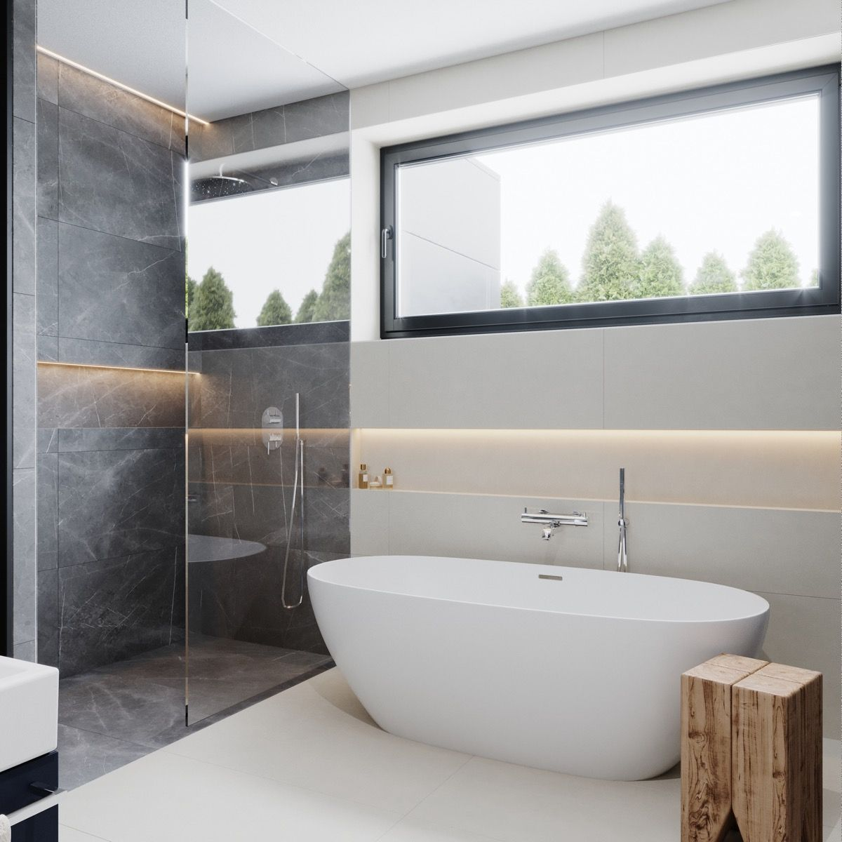 36 Modern Grey White Bathrooms That Relax Mind Body Soul Gray And White Bathroom White Bathroom Gray White Decor