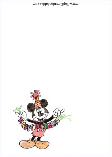 Diy free printable Mickey Mouse party fun template food, cake or