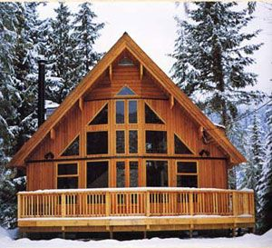 Chalet A Frame House Plans Log Cabin Homes Prefabricated Cabins