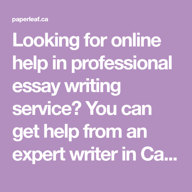 Professional essay writers canada