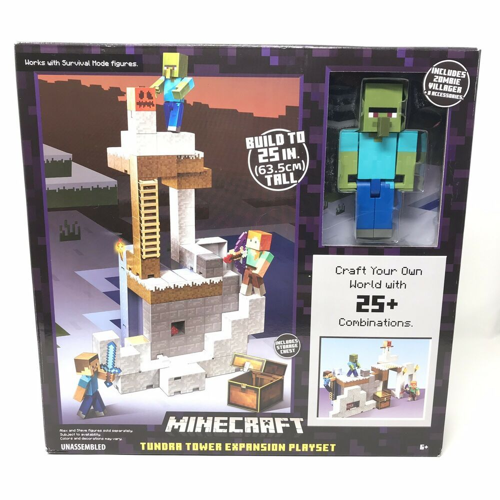 Minecraft Tundra Tower Expansion Playset NEW FDC43 Includes