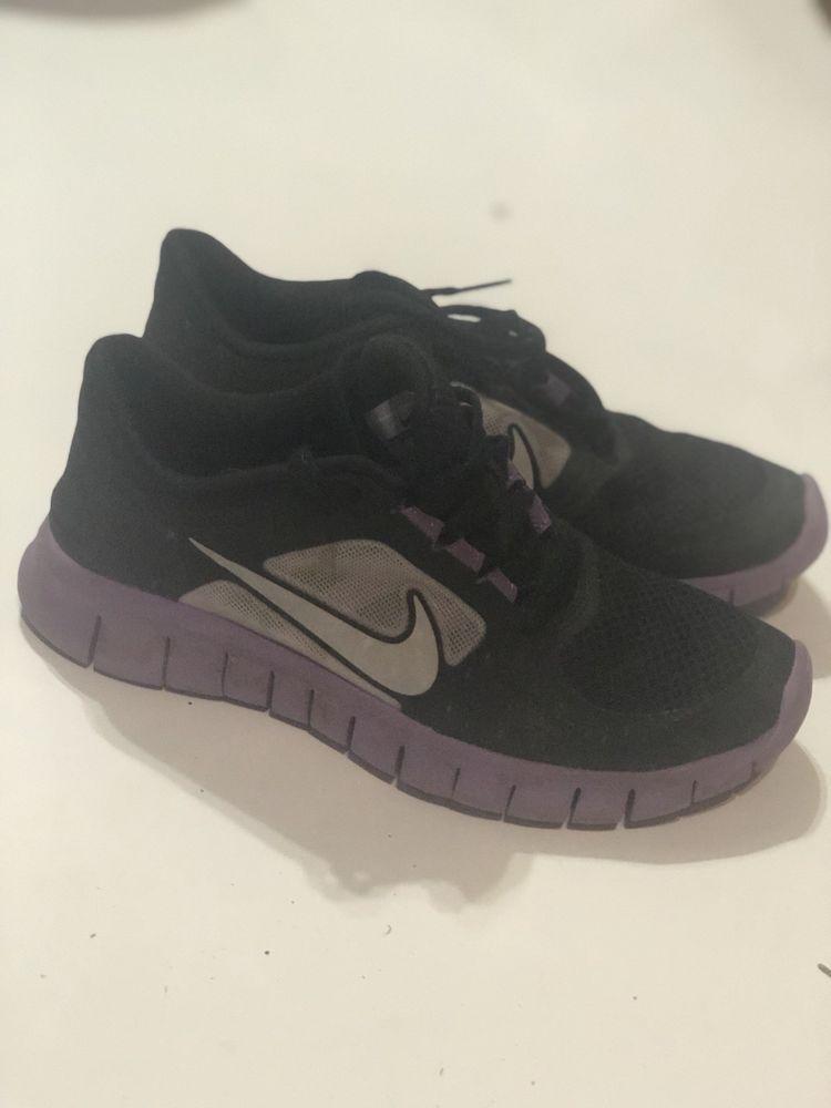 official photos 29252 fbe2b Nike Free Run 3 Big Kids  Running Shoes Black Reflect Silver-Iris 512098