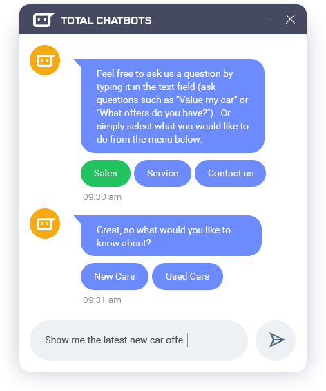 Total Chatbots - Bot Designing and Development Agency, which