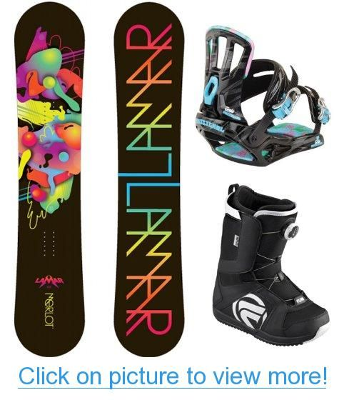 2013 Lamar Merlot Women's Complete Snowboard Package With