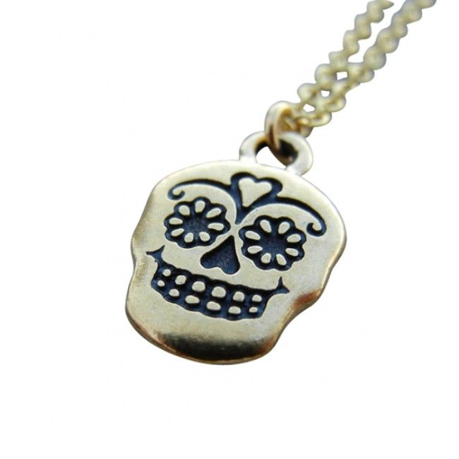 Sugar Skull Charm Necklace