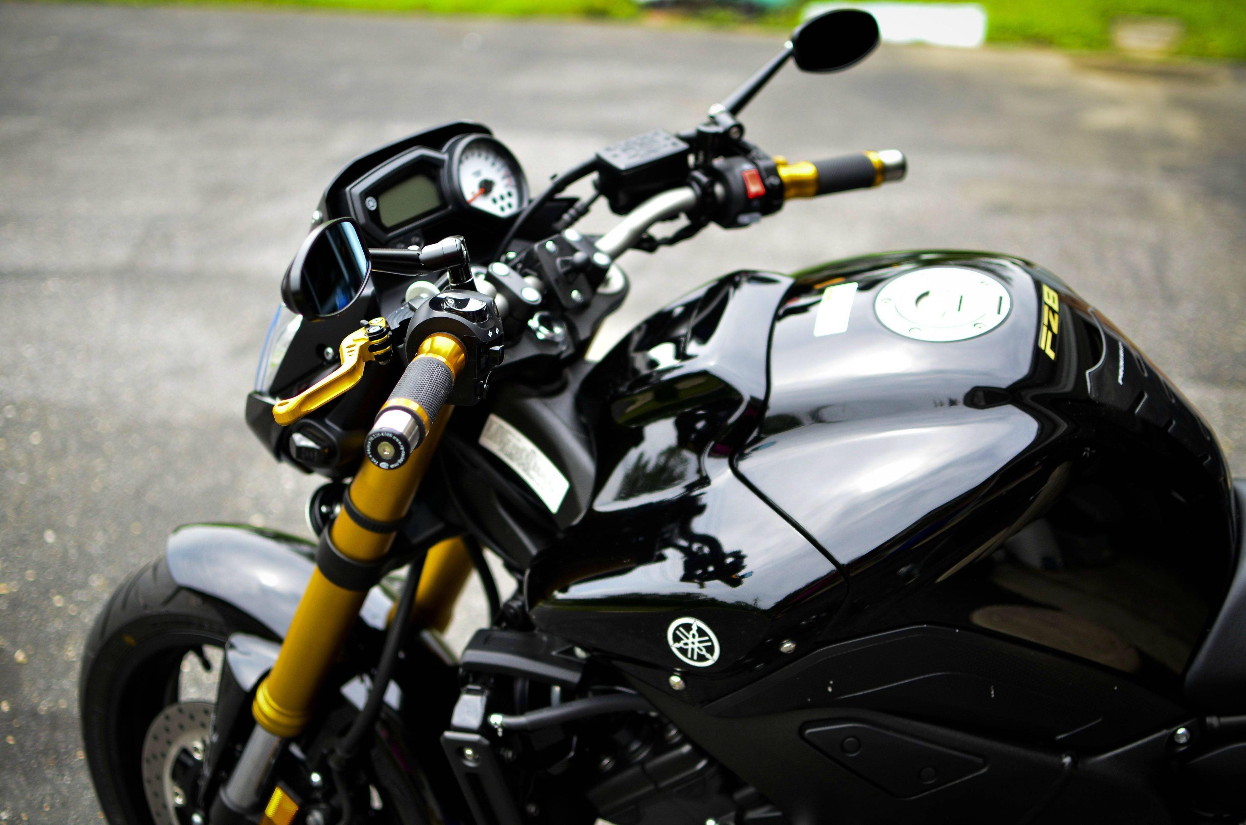 Yamaha FZ8 Love the gold and black! Xj6
