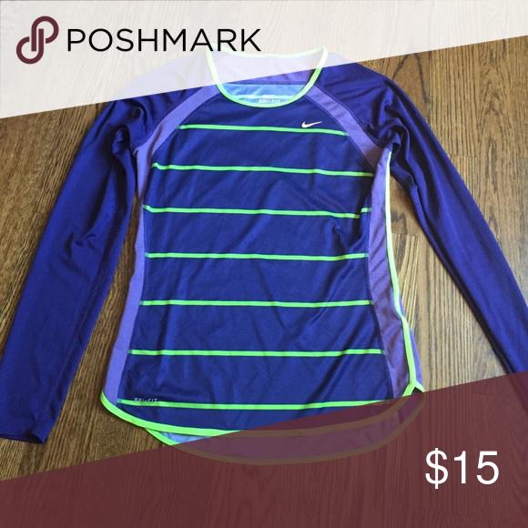 Nike Dri-fit Running Shirt Long-sleeved Nike Dry-Fit Running Shirt Nike Tops Tees - Long Sleeve