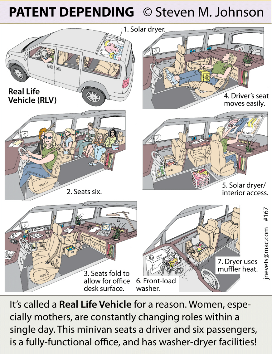 Steven M. Johnson\'s Bizarre Invention #167: The Real Life Vehicle ...