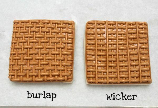 basket weave/burlap & wicker pattern step-by-step