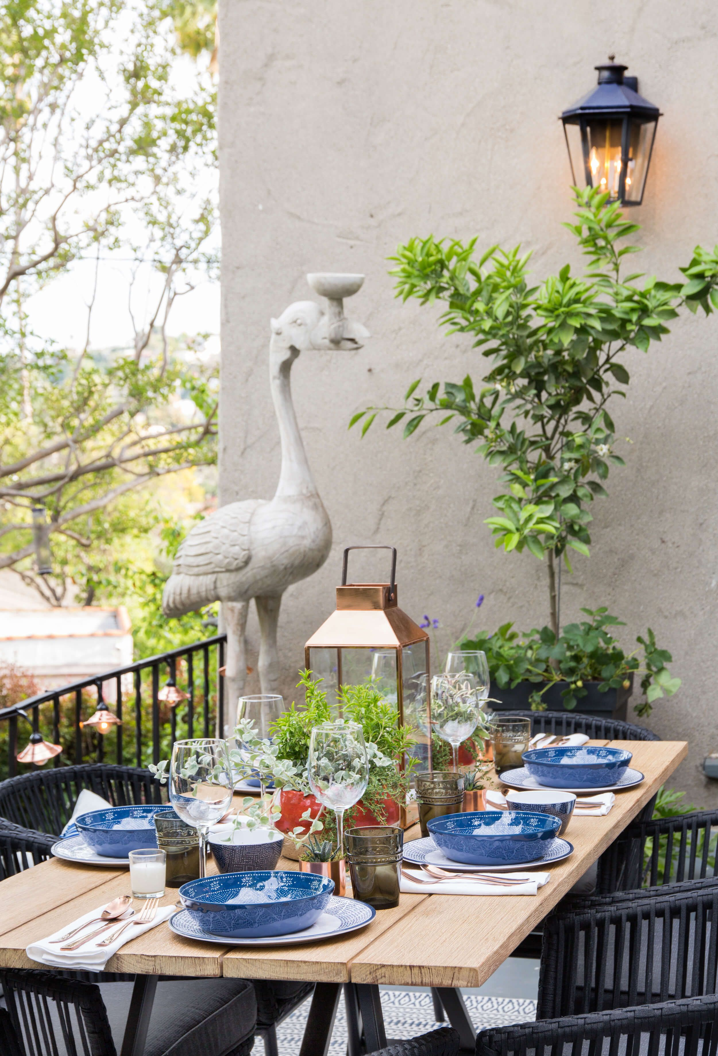 Mix and match with fun outdoor dinnerware for the perfect alfresco