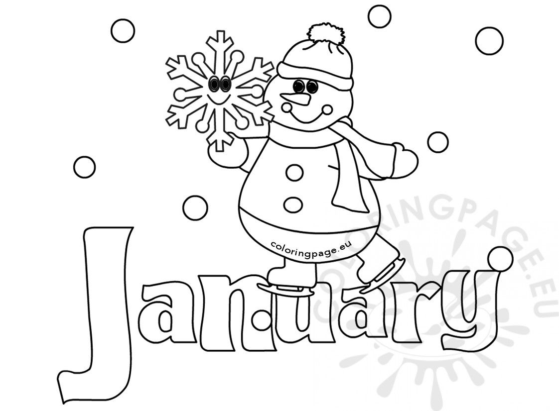 Winter Coloring Page January Snowman Coloring Page Coloring Pages Winter Coloring Pages Snowman Coloring Pages