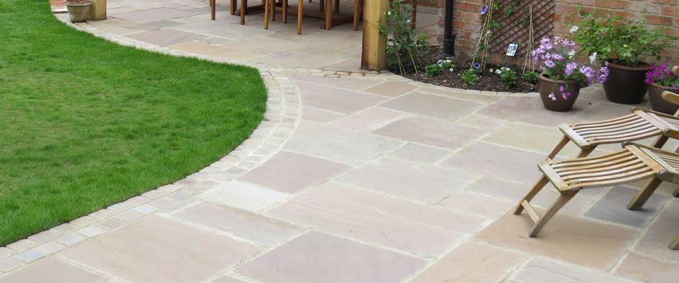 sandstone paving patio